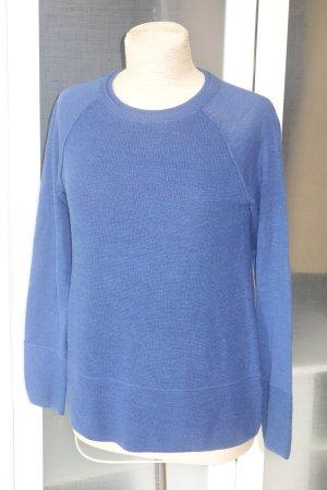 Org. ELIE TAHARI Pullover in blau aus Merino Gr.38