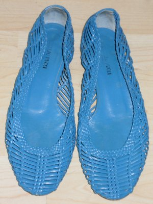 Org. EMILIO PUCCI Flecht-Ballerinas blau Gr.37,5
