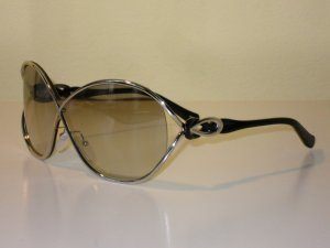 Org. EMILIO PUCCI oversized Sonnenbrille silber/schwarz inkl.Etui