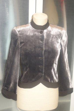 Org. EMPORIO ARMANI Samt-Blazer mit Muster glänzend Gr.34/36