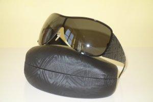 Org. ESCADA oversized Sonnenbrille schwarz mit Logos inkl. Etui
