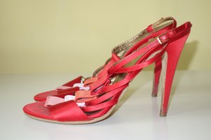 Escada High-Heeled Sandals red
