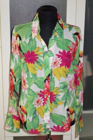 Org. ESCADA Sport Bluse mit Blumen-Print Gr.40