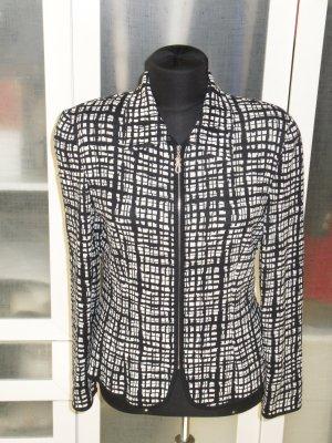 Org. ESCADA Strick-Blazer/Jacke in schwarz/weiß Gr.36