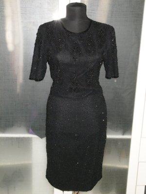 Org. ESCADA vintage Pailletten-Cocktailkleid/Abendkleid schwarz Gr.38