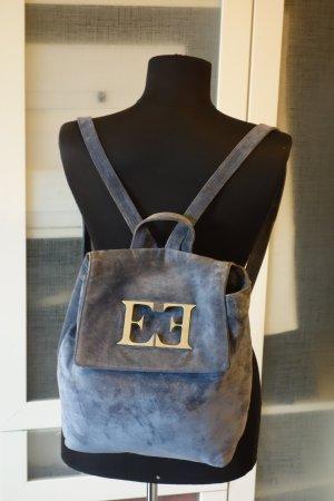 Org. ESCADA vintage Rucksack aus Wildleder in blau