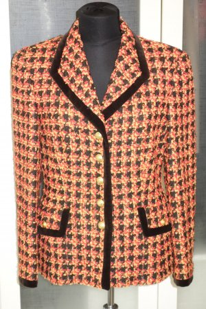 Org. ESCADA vintage Tweed Blazer tricolour Gr.38
