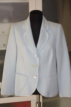 Escada Blazer en laine bleu clair