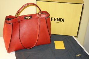 Org. FENDI Peakaboo large in rot wie neu inkl. Karton+Dustbag