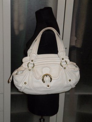Org. FRANCESCO BIASIA Ledertasche creme mit Dustbag