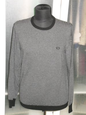 Org. FRED PERRY Pullover gestreift Merinowolle