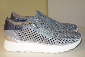 Org. FRU.IT Plateau Sneaker mit Glitzer-Nieten Gr.38 cut outs
