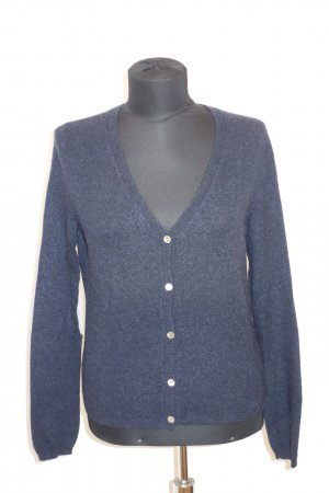 Org. FTC Kaschmir Cardigan in dunkelblau mit Lurex Patches Gr.M