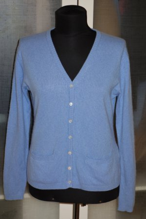 Org. FTC Kaschmir Cardigan/Strickjacke in blau Gr.M