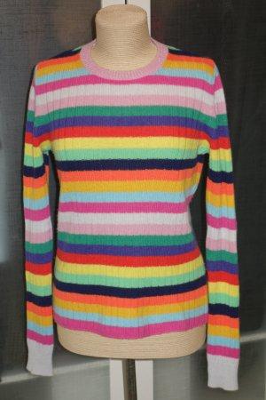 Org. FTC Kaschmir Ringel-Pullover multicolour Gr.S