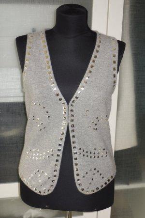 FTC Cashmere Knitted Vest light grey cashmere