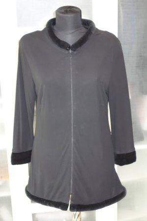 Org. GABRIELE BLACHNIK Minikleid mit Reissverschluss und Samtdetails