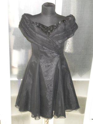 Org. GABRIELLE made in UK vintage Abendkleid schulterfrei ausgestellt Gr.40