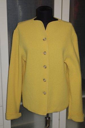 Georg Maier Cardigan yellow new wool