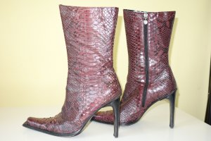 High Boots bordeaux leather