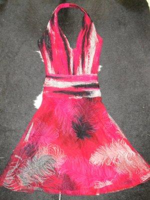 Org. GIANNI VERSACE vintage Neckholder Kleid aus Seidenchiffon