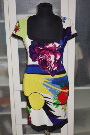 Org. GIANNI VERSACE vintage Runway Kleid im multicolour Design Gr.36