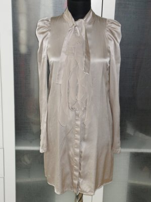Org. GIVENCHY Runway long Seidenbluse mit Volants in nude