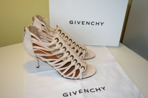 Givenchy Strapped High-Heeled Sandals beige suede
