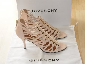 Org. GIVENCHY suede laced Sandaletten beige wie neu inkl. Karton+Dustbag