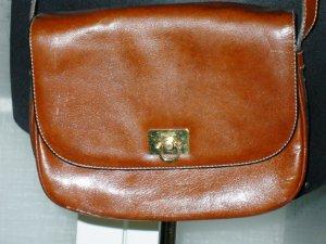 Goldpfeil Crossbody bag cognac-coloured leather