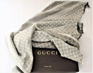 "Org. Gucci ""Guccissima"" Tuch XL/Wolle-Seide/Graubraun-Beige"
