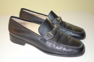 Org. GUCCI Loafer/Slipper schwarz Metallspangen Gr.40