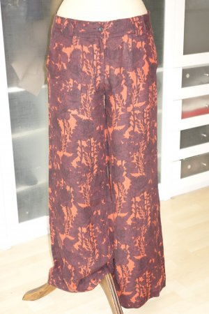 Hannes Roether Palazzo Pants brown red-russet linen