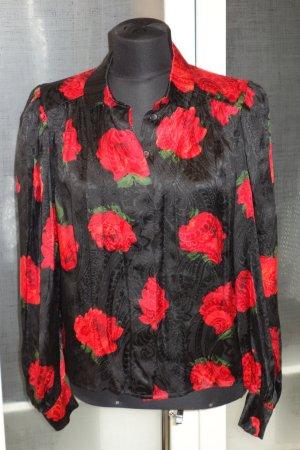 Helene Straßer Silk Blouse red-black silk