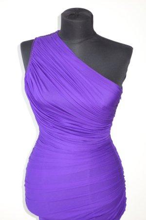 Org. HERVE L.LEROUX Couture one shoulder Bandage Kleid in lila Gr.34/36