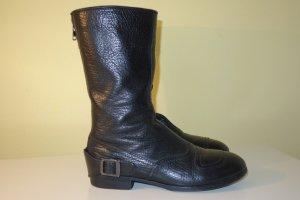 Hogan Boots black leather