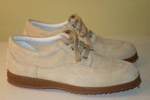 Org. HOGAN Leder-Sneaker in hellbeige/sandbraun Gr.37,5