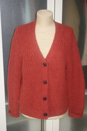 i heart Coarse Knitted Jacket dark red