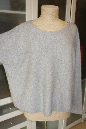 Org. IHEART oversize Pullover aus Wolle/Kaschmir in hellgrau Gr.M