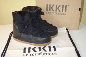 Ikkii Snow Boots black leather