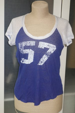 "Org. ISABEL MARANT ""57"" oversized Baseball Leinen-Shirt blau/weiß Gr.S"