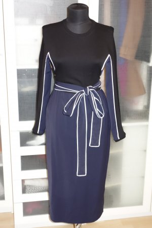 Org. ISSA Wickel-Kleid mit Materialmix Gr.36