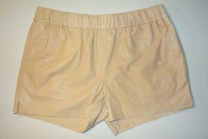 Org. J BRAND Leder Hot Pant in beige Gr.S NEU+Etikett