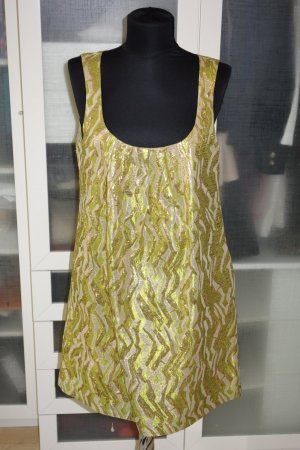Org. J.CREW Brockat Kleid mit Lurex gold/grün Gr.36