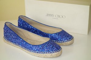 Jimmy Choo Espadrille Sandals blue-sand brown