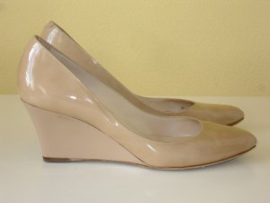 Org. JIMMY CHOO Keilabsatz-Pumps/Wedges beige Gr.38