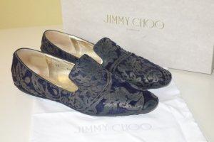 Org. JIMMY CHOO Slipper aus Ponyfell mit Muster Gr.40 inkl. Karton+Dustbag