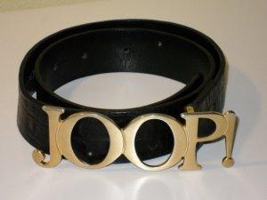 Joop! Cinturón de cuero negro Cuero
