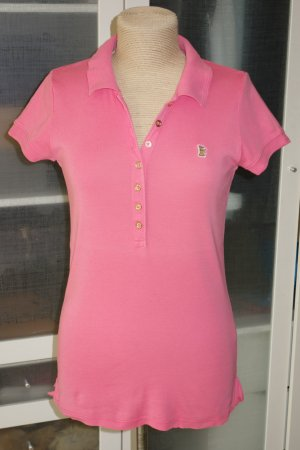 """Org. JUICY COUTURE long Polo in pink """"Juicy Princess"""" Gr.M"""