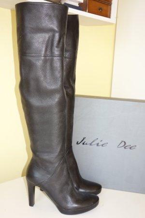 Julie dee Overknees black leather